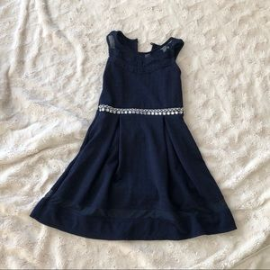Girl's navy blue dress